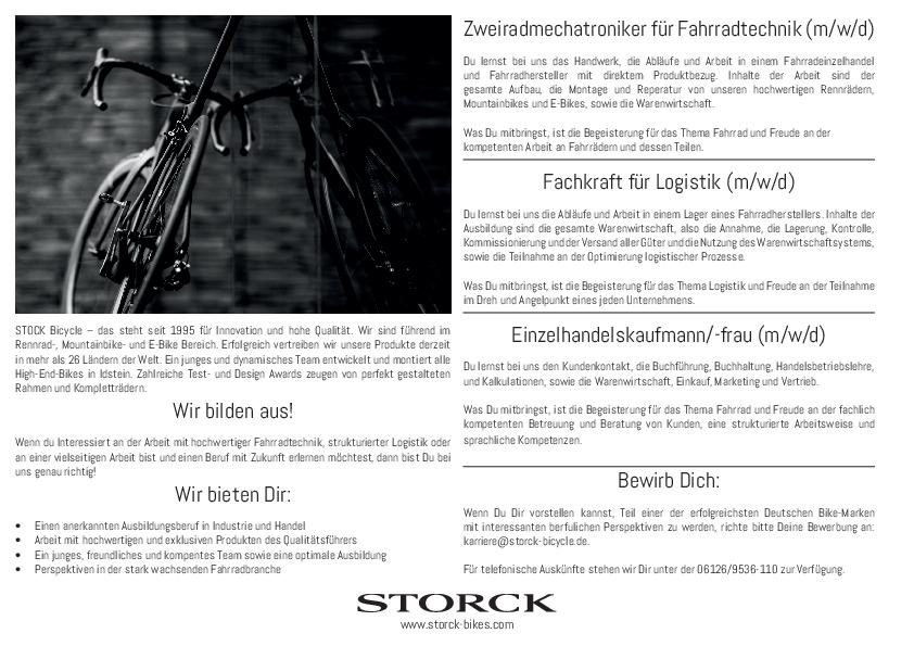 Ausbildung zum Zweiradmechatroniker, zur Logistikfachkraft oder zum/zur Einzelhandelskaufmann/ -frau (m/w/d)