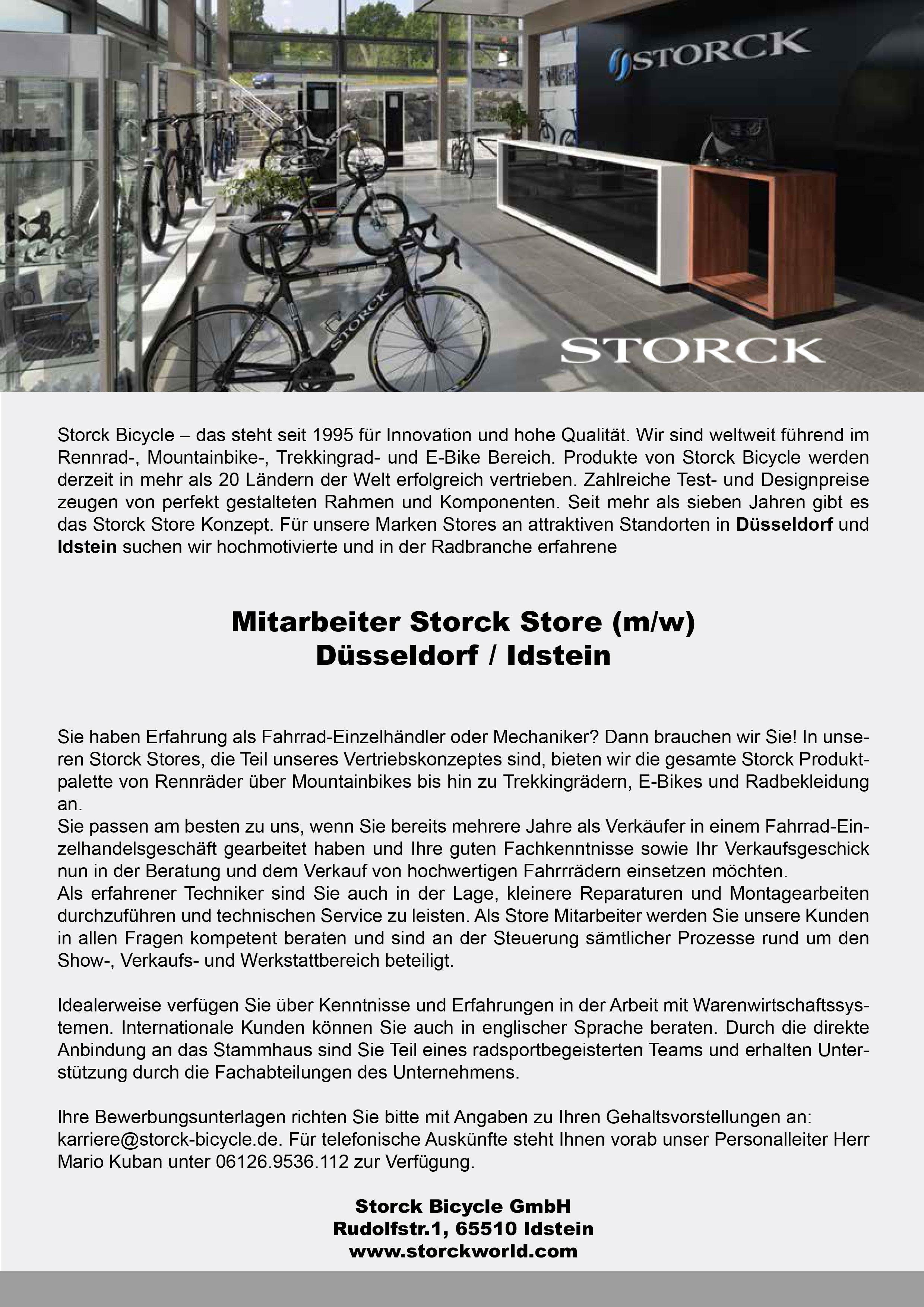Store Mitarbeiter Düsseldorf und Idstein (m/w)