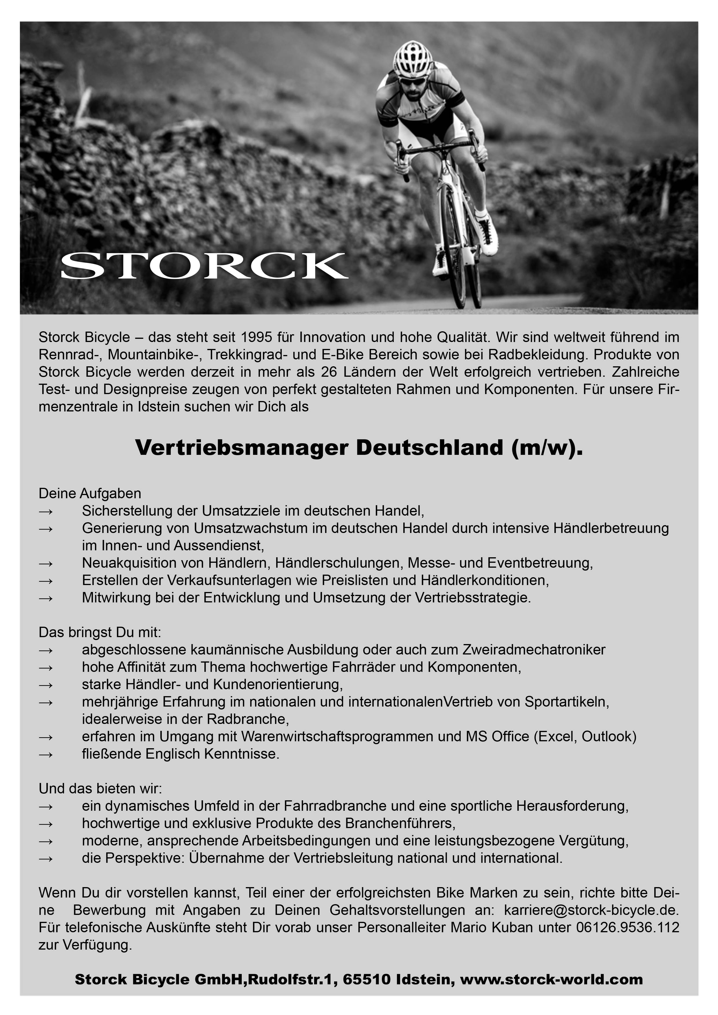Vertriebsmanager (m/w)