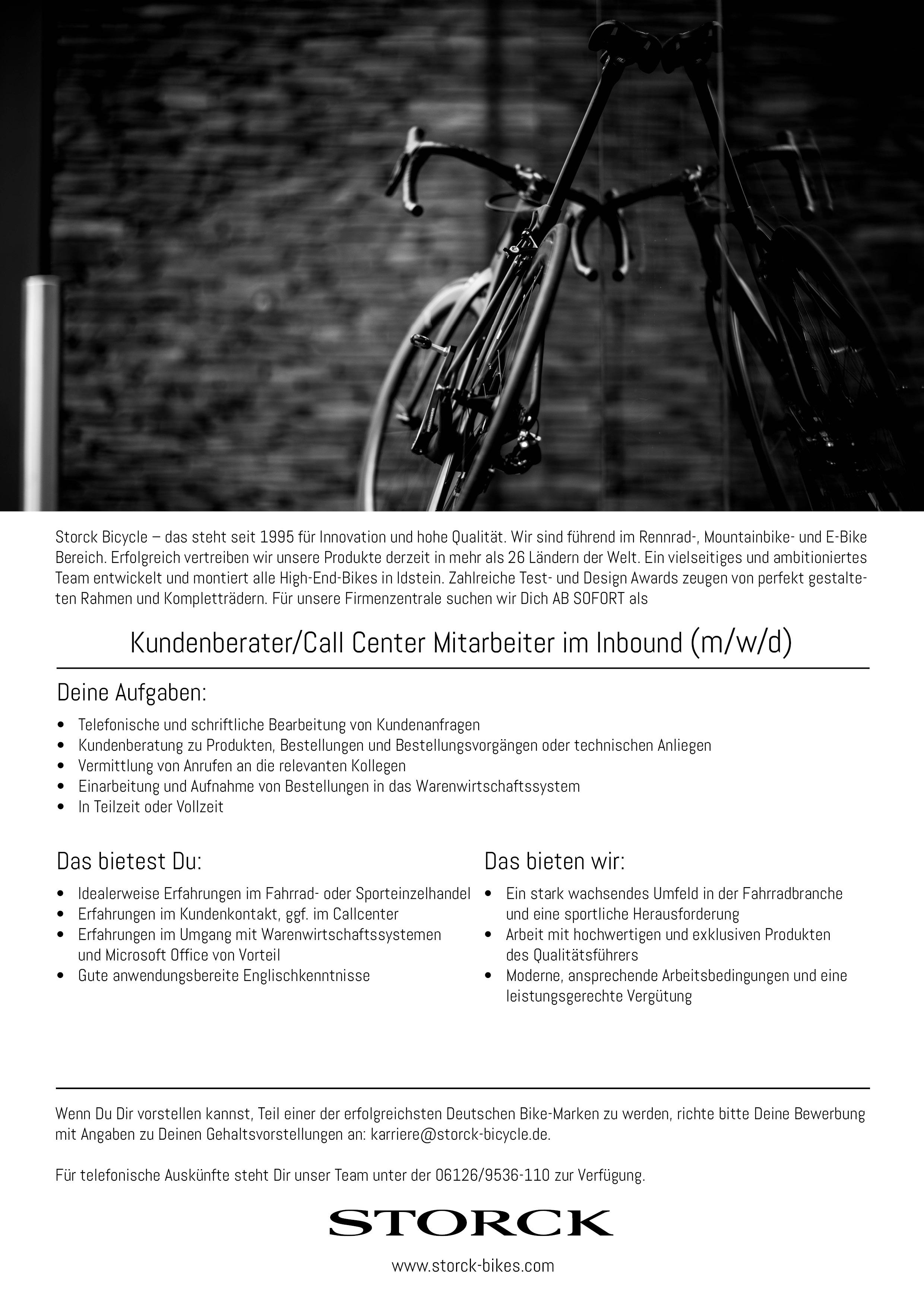 Kundenberater/Call Center Mitarbeiter im Inbound (m/w/d)