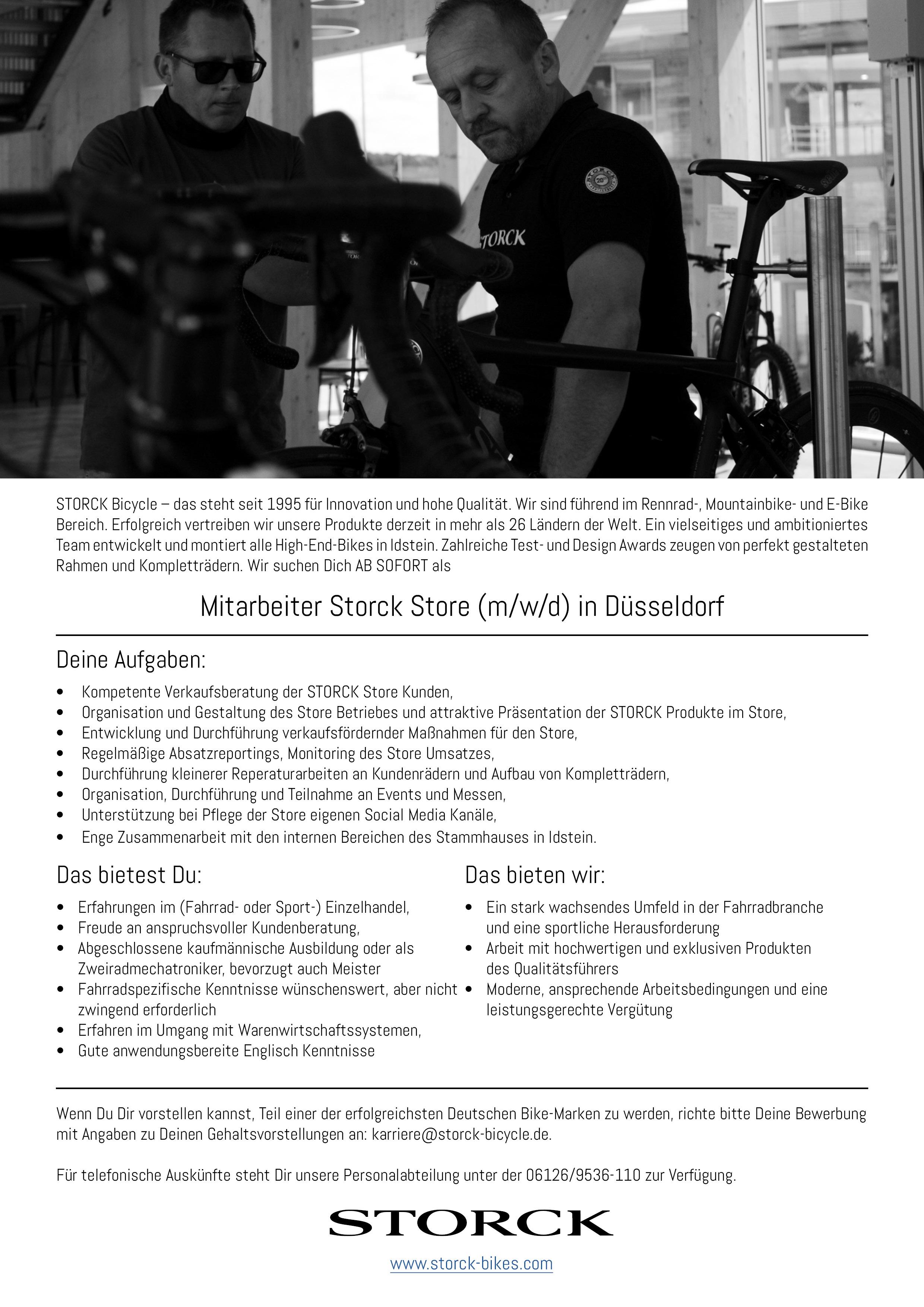 Mitarbeiter Storck Store (m/w/d) in Düsseldorf