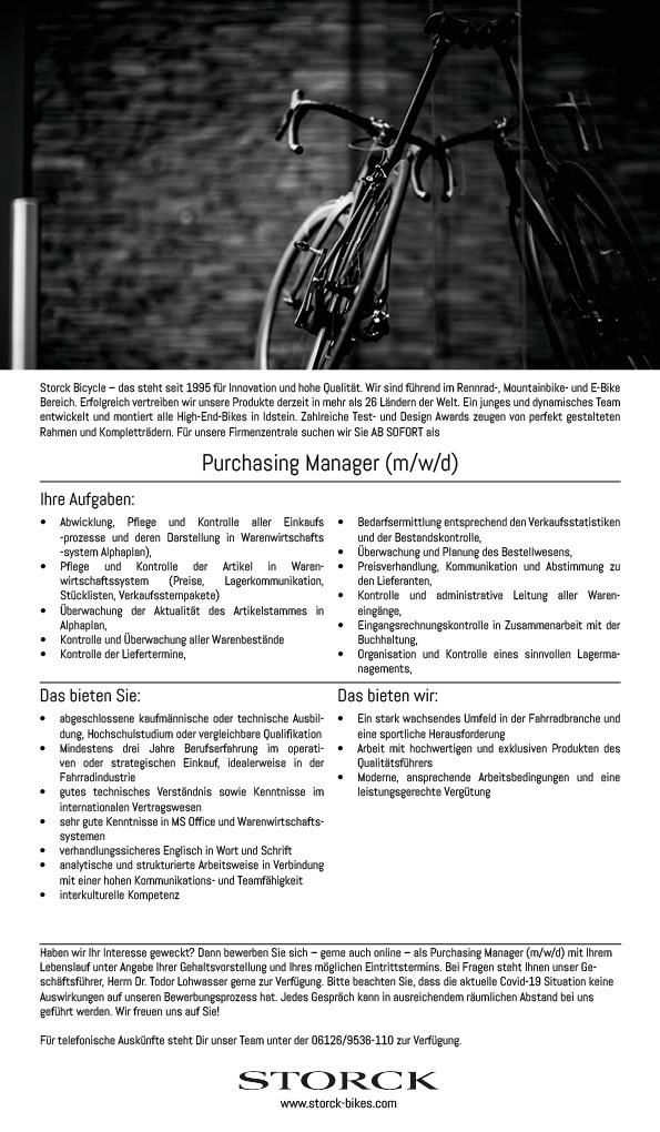 Purchasing Manager/ Mitarbeiter im Einkauf (m/w/d)
