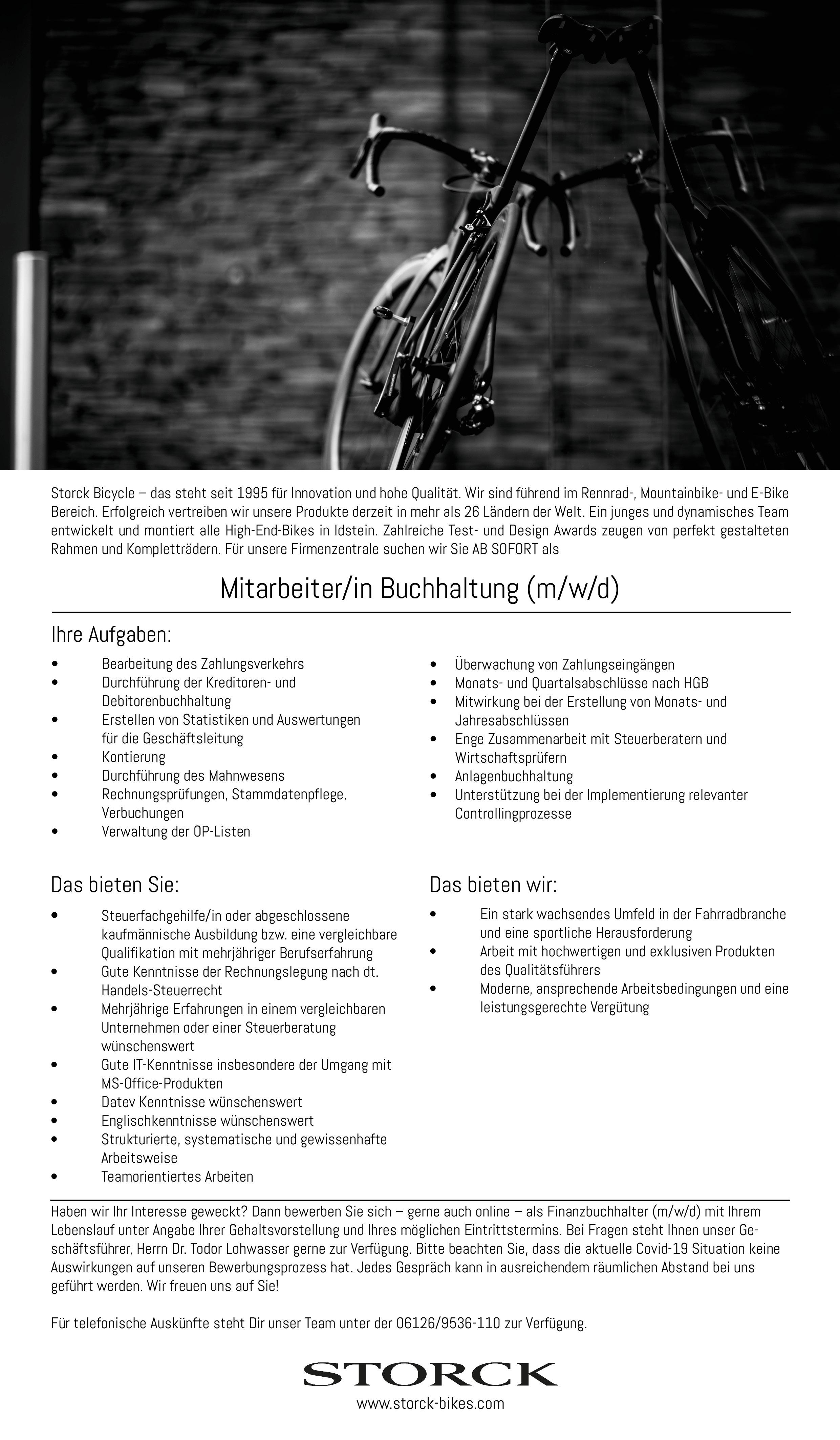 Mitarbeiter/in Buchhaltung (m/w/d)